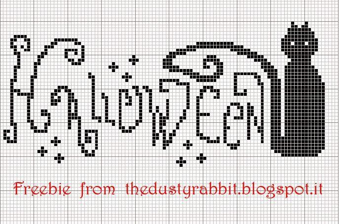 Halloween cross stitch freebie