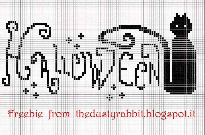 Halloween cross stitch freebie
