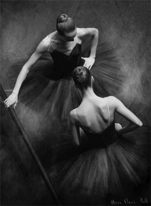 Mark Olich ~ Ballerinas in black + white