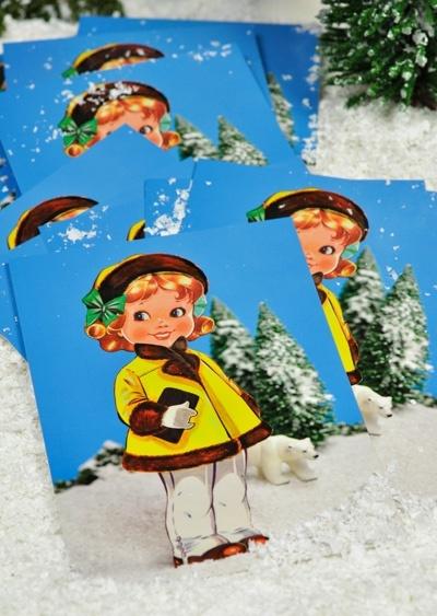 Winteraanbieding!  10x Lola Winter voor 7 euro. Popjes Art.