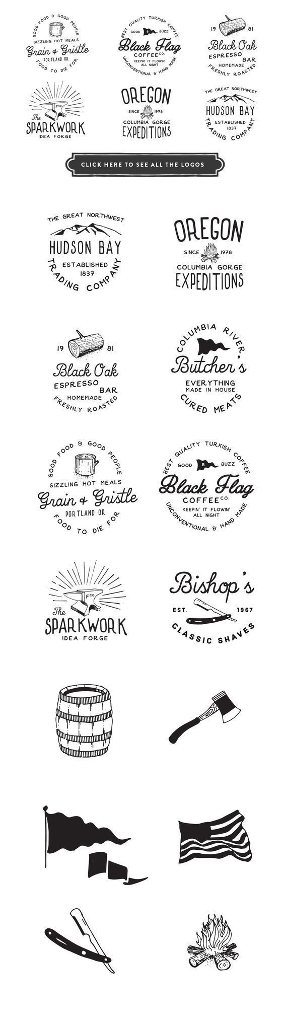 Vintage Branding Kit - This is easily the most valuable package I've ever put together. It's also the most highly discounted pack. The Vintage Rubber Stamp Smart PSD, Vintage Mock-Up Photos, Vintage Studio Photos or Hand Drawn Logos could all easily sell individually for the price of the entire pack. By RetroSupply Co. $27 #brand #deisgn #affiliatelink