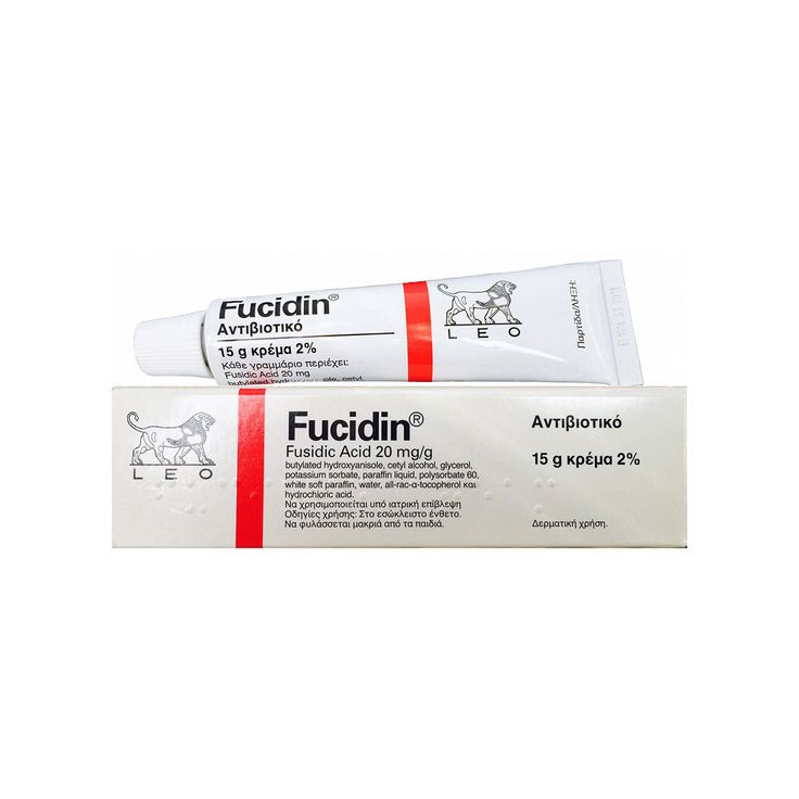 Fucidin cream, first aid - New London Pharmacy. Fucidin cream contains the active ingredient fusidic acid, which is an antibacterial agent used to treat a number of bacterial skin infections. Fucidin ointment contains sodium fusidate, which is the sodium salt of fusidic acid. Fusidic acid is a type of medicine called an antibiotic. Fusidic acid works by preventing bacteria from producing proteins that are essential to them. Without these proteins the bacteria cannot grow, replicate and…
