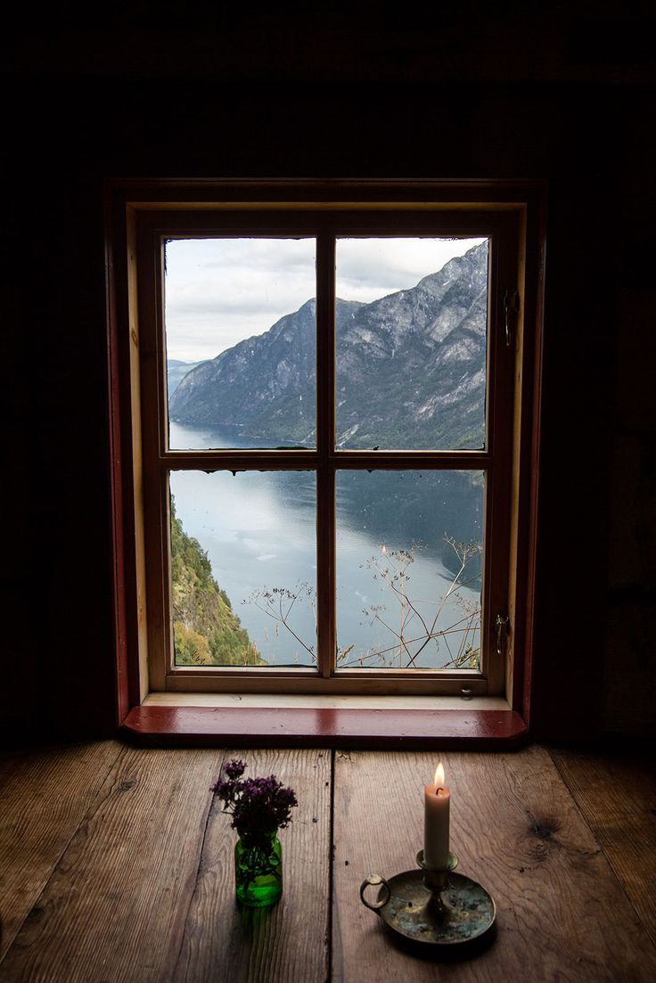 Inside house windows at night - View From An Attic Window Stigen Gard Norway Photo Via Lisa