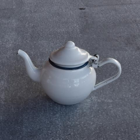 Romanian enamel tea pot, 1 cup 300ml
