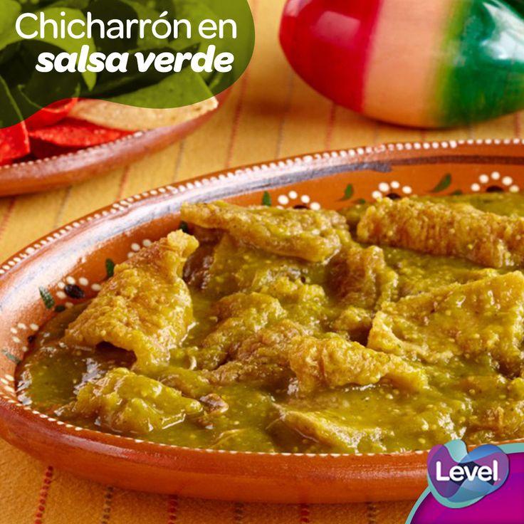 Riquísimos chicharrones en salsa verde ¡No te quedes sin probarlos!