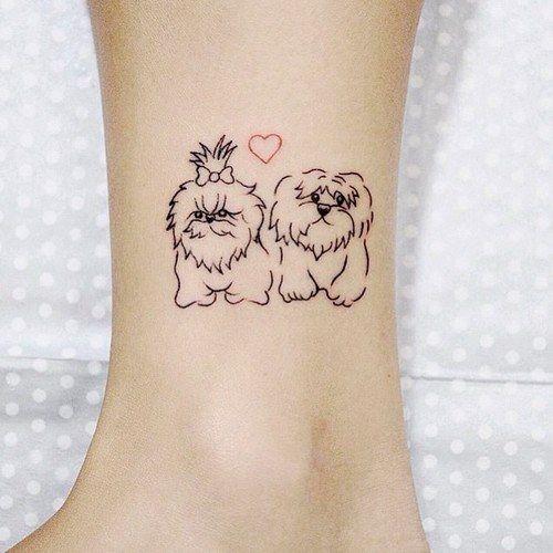 50 ideias de tatuagem para amantes de cachorros - Tatuagem de cachorro -