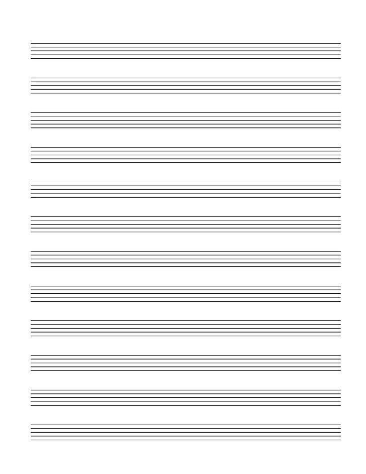 Print Out For Blank Banjo Tab Help With Music