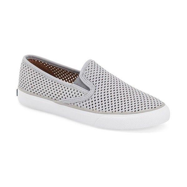 Sperry Seaside Perforated Slip On Sneaker 75 Via