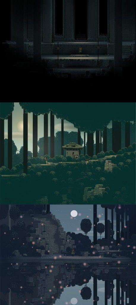 Mariage réussi entre Pixel art et jeu vidéo avec Superbrothers Sword and Sworcery