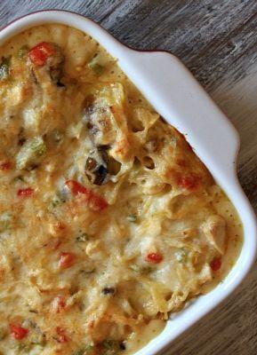 Chicken Spaghetti Casserole #recipe