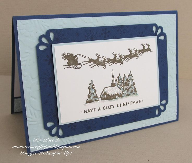 Stampin' Up! UK Demonstrator - Teri Pocock: Cozy Christmas With Curvy Corner Trio Punch