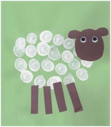 New Zealand Crafts - Cork Stamp Sheep