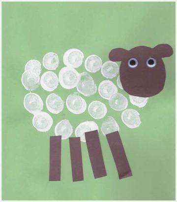 New Zealand Crafts - Cork Stamp Sheep