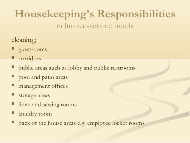 Housekeeping Department Of Hotel