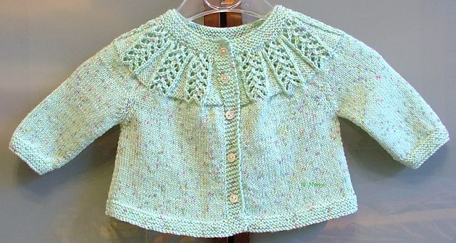 Ravelry: Meny's pale-green baby sweater