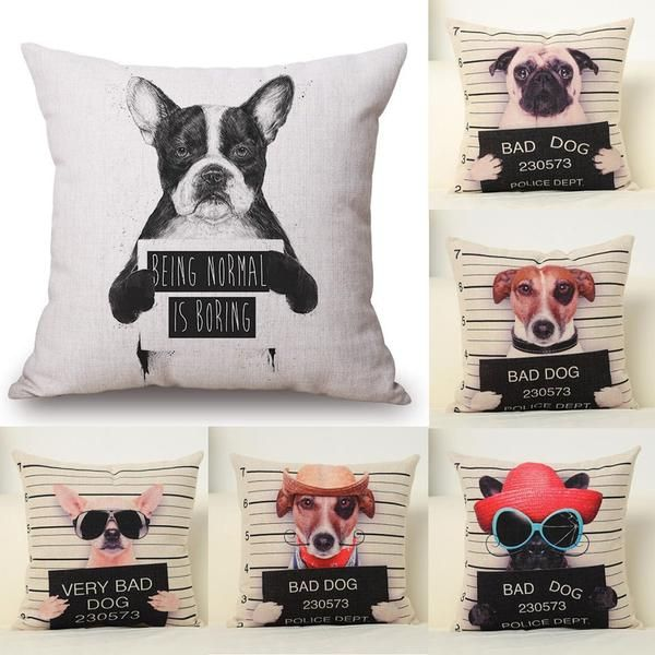 Our Bad Dog Cushion Cover Is Rich In Design Comes In 6 Different