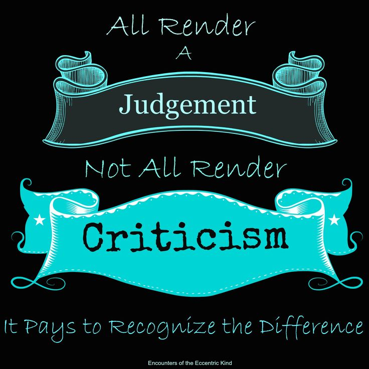 Judgement vs. Criticism: Know the Difference
