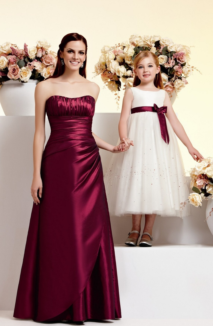 107 best bridesmaid flower girl styles images on pinterest gorgeous red colour but also lovely bridesmaid dress ombrellifo Images