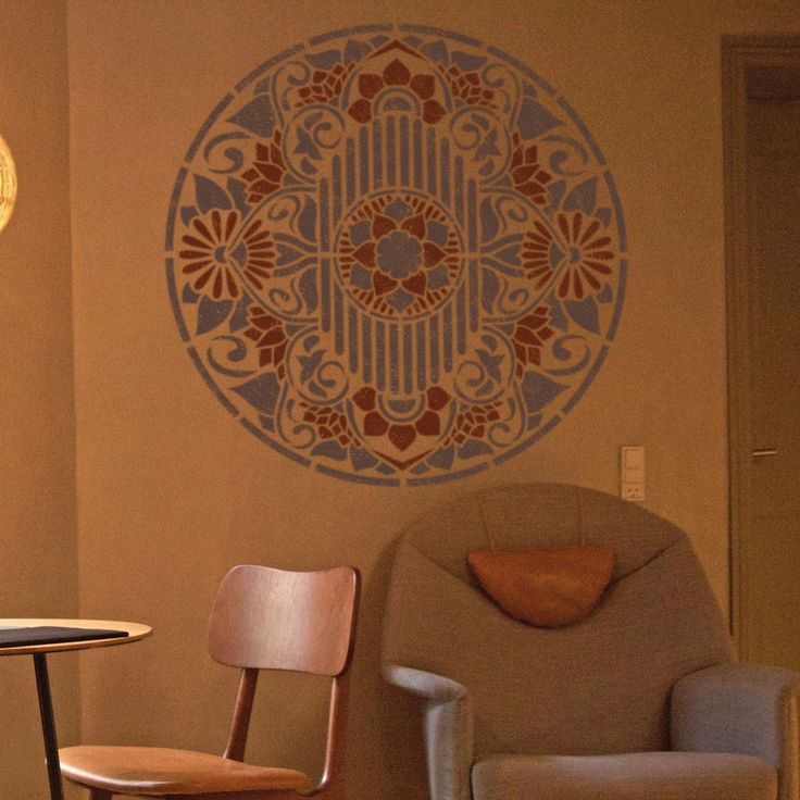 Medallion Wall Stencil - Furniture Painting Stencil - Wall Painting Stencils - Mandala Wall Stencil