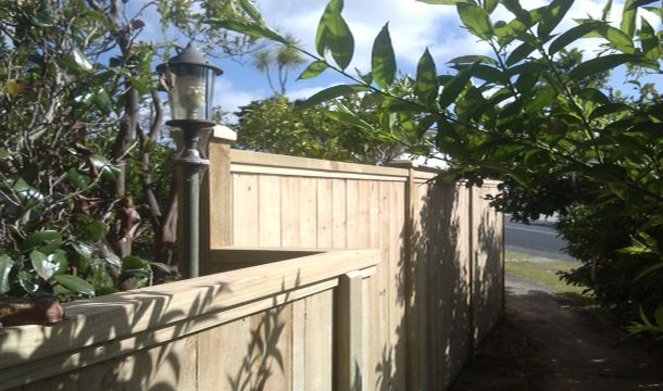 Pine fence construction, a past project, simple design.