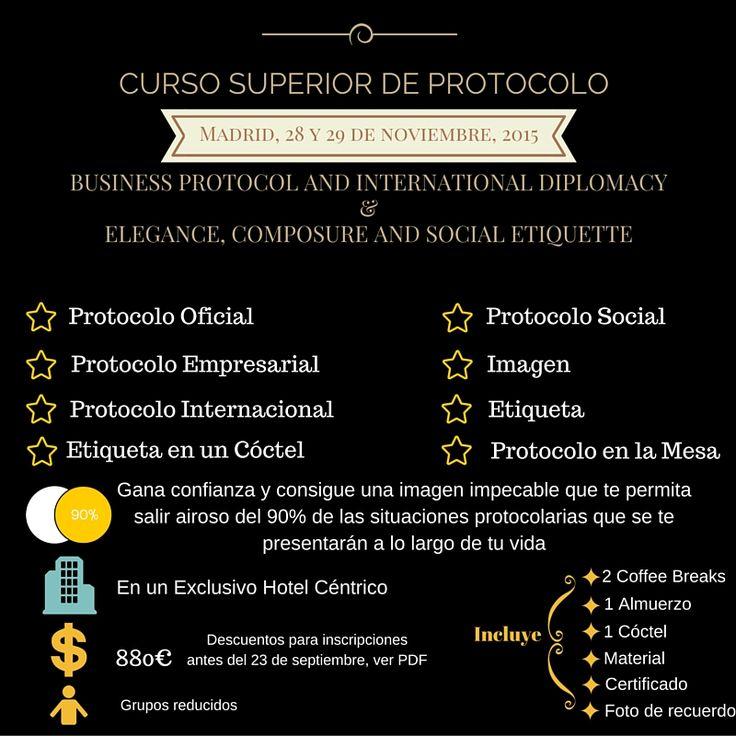#Curso Superior de #Protocolo. Business Etiquette and Protocol Madrid