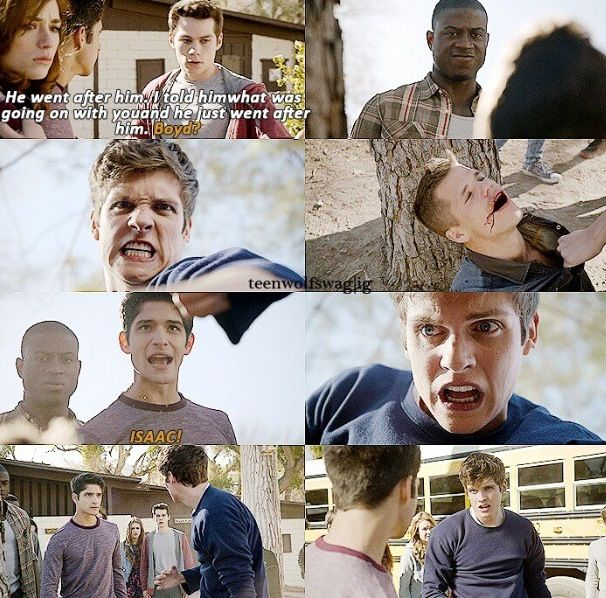 Teen Wolf - this scene gave me chills. The power in Scott's comics was incredible.