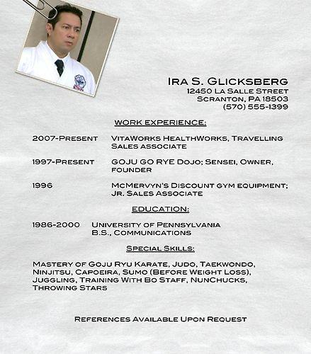 Ira Glicksberg's Resume | The Office | #TheOffice