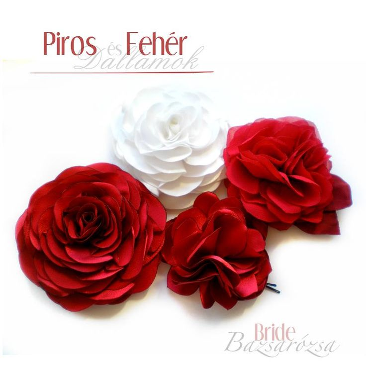 rózsa, vörös, piros, Bazsarózsa, kitűző, fejdísz, hajdísz, fehér