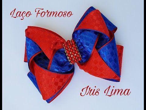 Como fazer laço mil faces com 3 camadas Diy ,Tutorial ,Pap By Iris Lima How To Make a Hair Bow co - YouTube