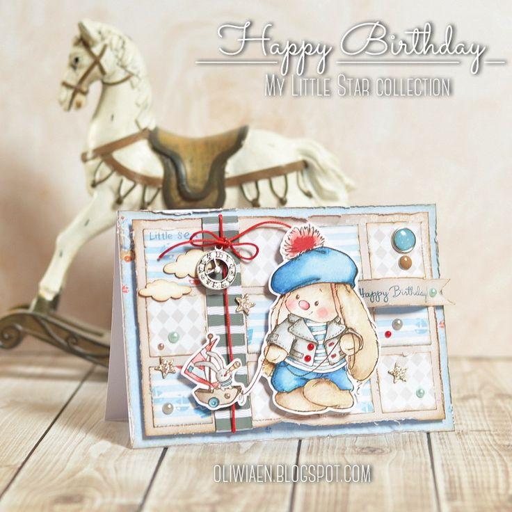 Kartka urodzinowa; polandhandmade.pl #polandhandmade , #scrapbooking , #kartkaurodzinowa