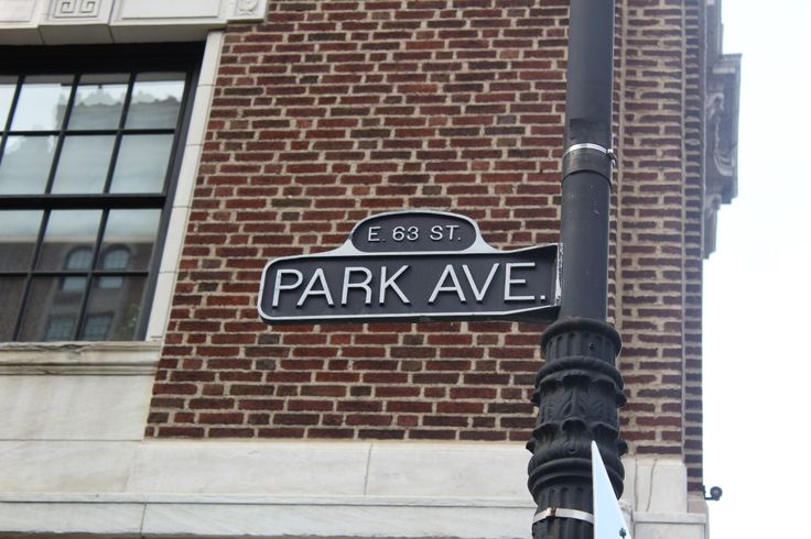 Park Avenue. New York City.  For some reason street signs in New York filled me with a great deal of excitement.