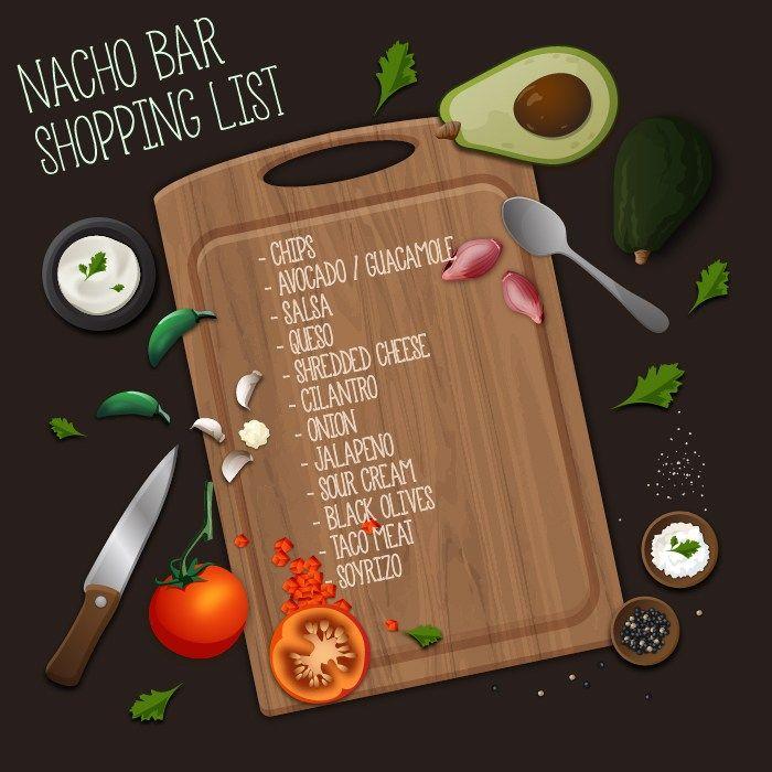 Throw a kickass Fiesta/Cinco de Mayo party with this Nacho Bar shopping list!