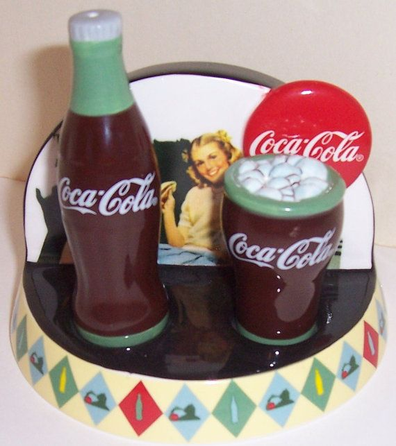 Collectable Coca Cola Salt & Pepper and Stand