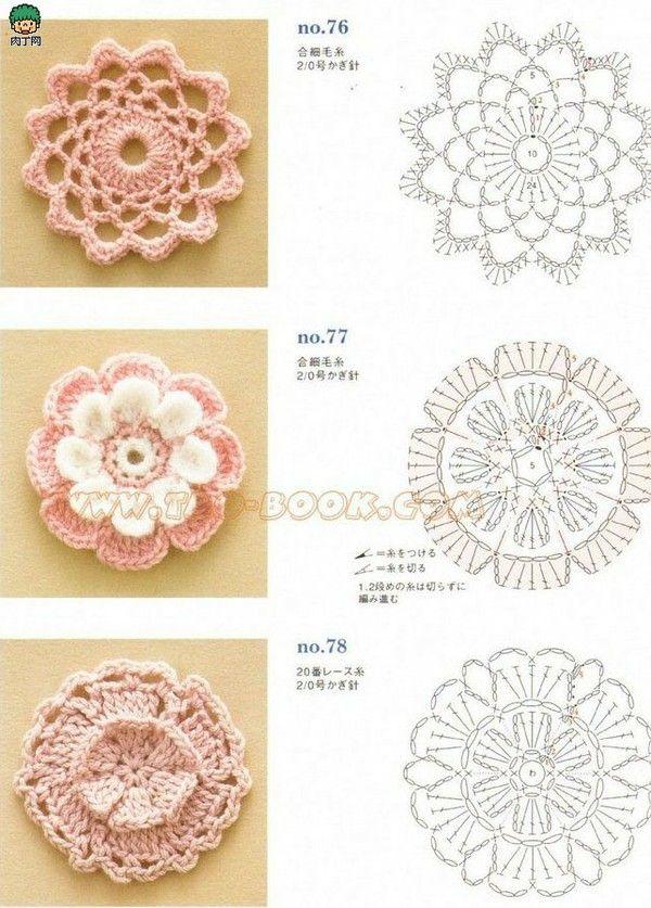 518 Best Crochet Motifs Images On Pinterest Crochet Motif