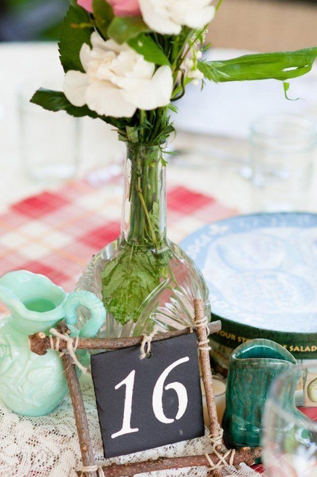 Rustikale Dekoration mit Kristall Vase