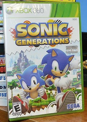 nice NEW FACTORY SEALED Sonic Generations FOR Xbox 360 ALSO Playable in 3D - For Sale Check more at http://shipperscentral.com/wp/product/new-factory-sealed-sonic-generations-for-xbox-360-also-playable-in-3d-for-sale/