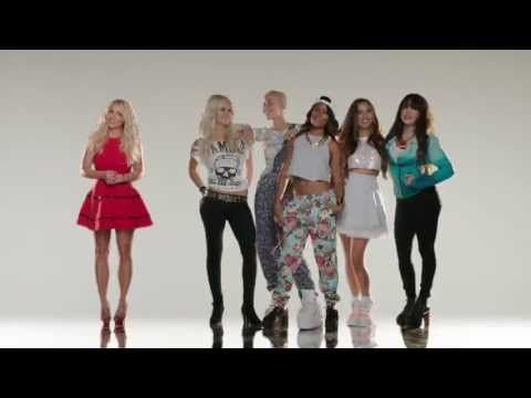 Britney Spears introducing the new female group GRL's and their new single VACATION