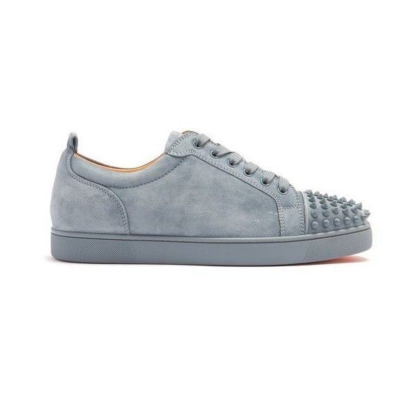 e4c104e9542 Christian Louboutin Louis Junior spike-embellished low-top trainers ...