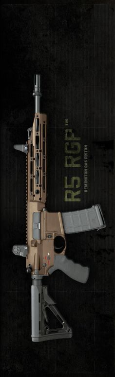 R5 RGP™ Available as a stand-alone carbine or as a complete upper ready to install on your M4 style lower, the Remington R5 RGP (Remington Gas Piston) represents the next great leap in the evolution of the modern combat rifle. Featuring a monolithic upper with free-floating handguard, robust mid-length gas piston operation and toolless disassembly for cleaning, the RGP is designed from the ground up to provide rugged, accurate service in even the most extreme conditions.