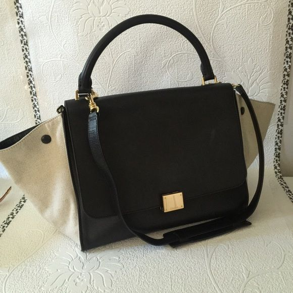 ??SOLD??Celine Trapeze luggage Calf leather | Black Exterior ...
