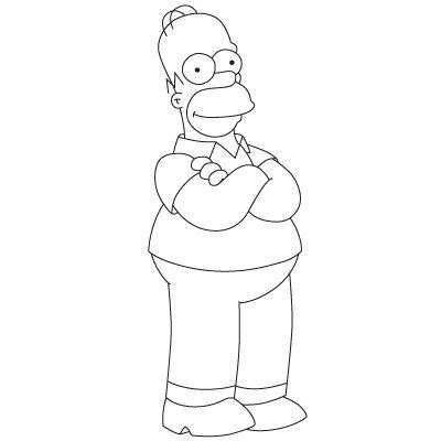 Comment dessiner Homer Simpson  Dessein de dessin