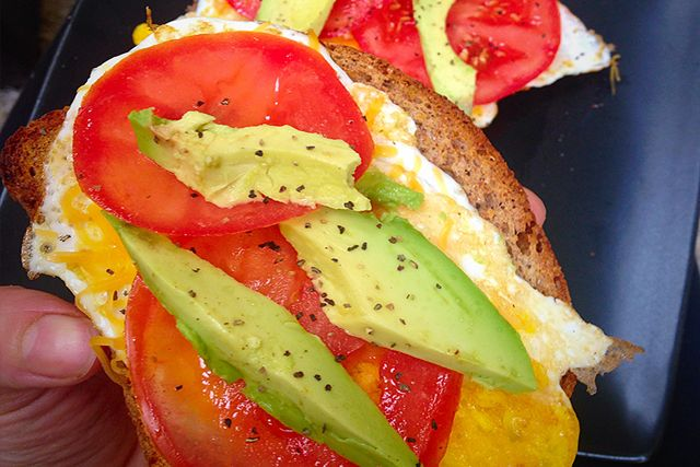 Open Faced Tomato and Avocado Egg Sandwich- 21 Day Fix and 21 Day Fix Extreme Approved- Dana Nicole Fitness