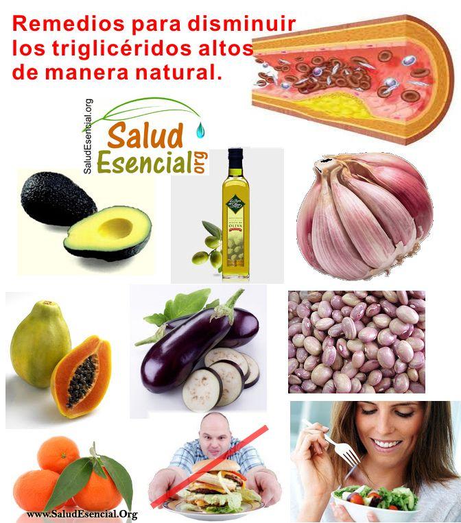 Remedios para disminuir trigliceridos altos de manera natural salud pinterest salud - Trigliceridos alimentos ...
