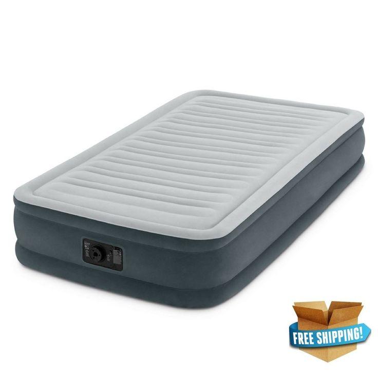 Intex Twin 13' DuraBeam Comfort Plush MidRise Airbed Air Mattress Inflatable Bed #Intex