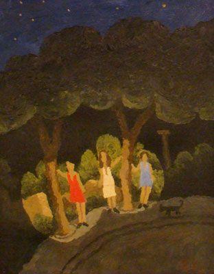 Las Noches de Cabiria, 2007, óleo/lienzo, 32x24 cm.