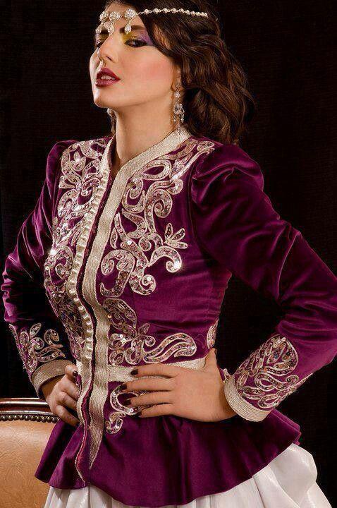 Algerian Fashion: purple karakou jacket