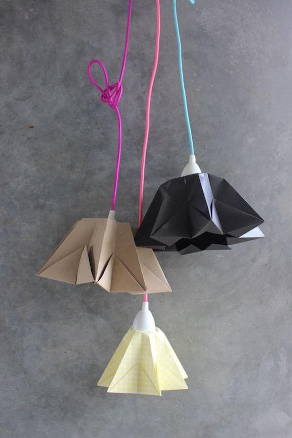 diy lampara origami
