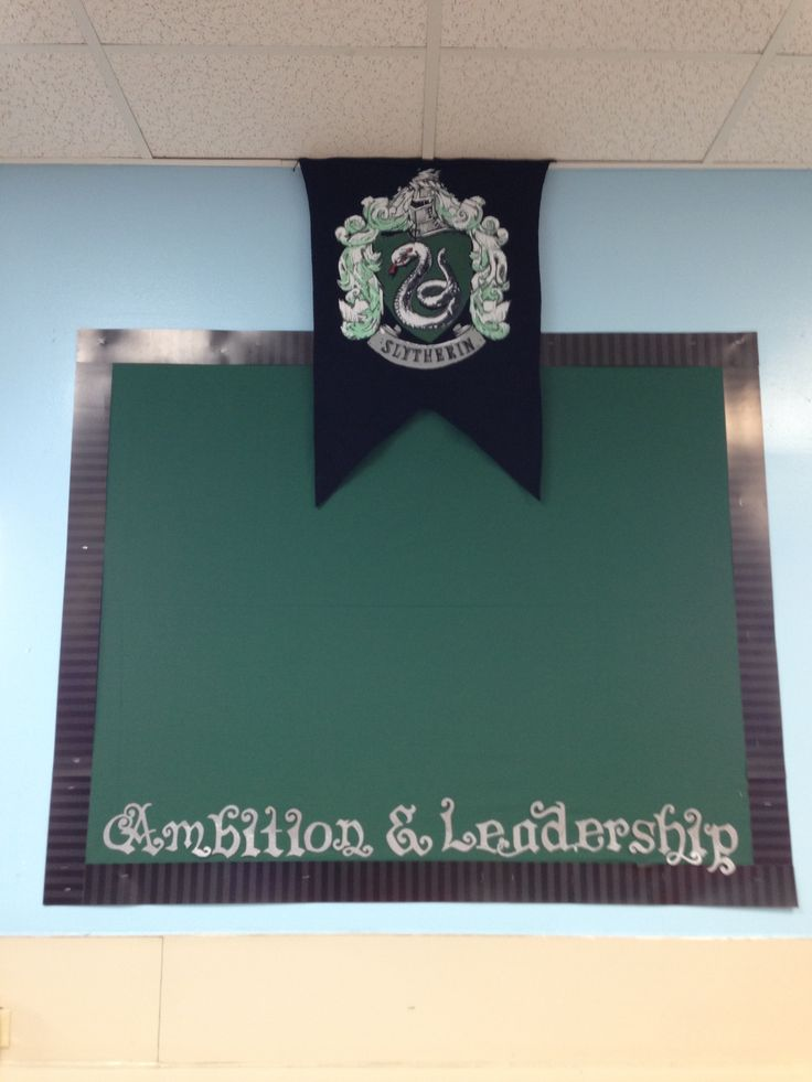 Classroom Theme Ideas Grade ~ Slytherin bulletin board harry potter classroom