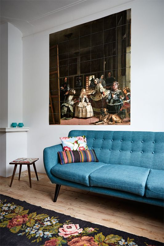 IXXI wall decoration made with the painting 'Las Meninas', of Museo del Prado Madrid. The IXXI in this example will cost $191.20 (140 x 160 cm). #ixxi #ixxidesign