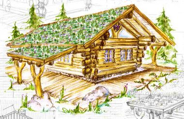 Kanada Blockhaus, kanadisches Blockhaus, Naturstammhaus